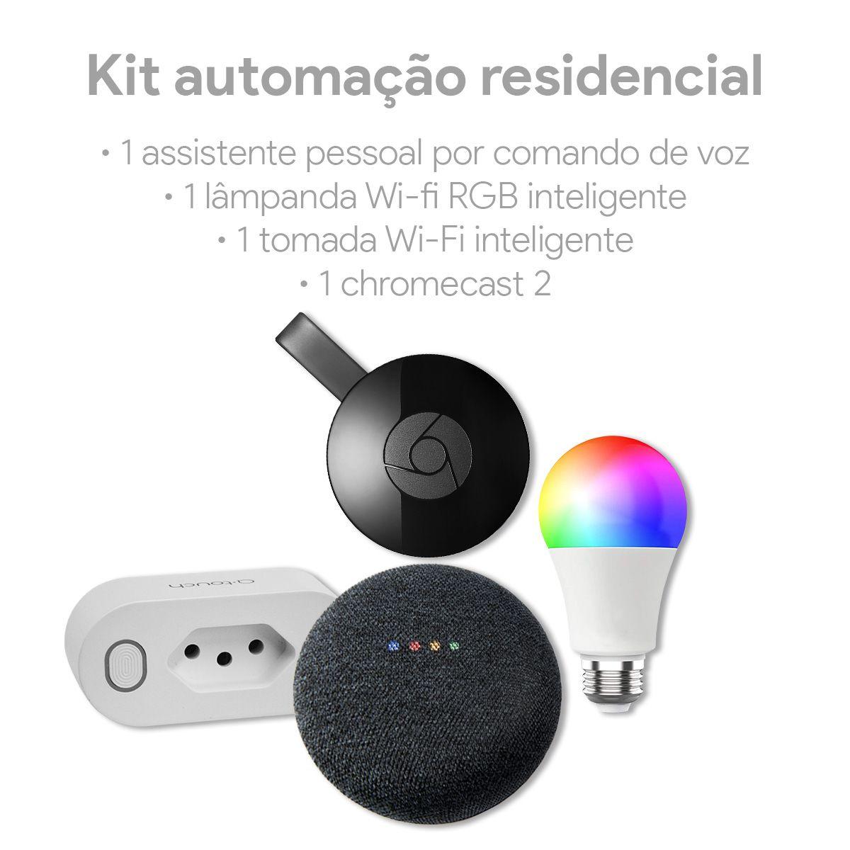 Kit Automação Residencial Smart Home Casa Inteligente Google Assistente