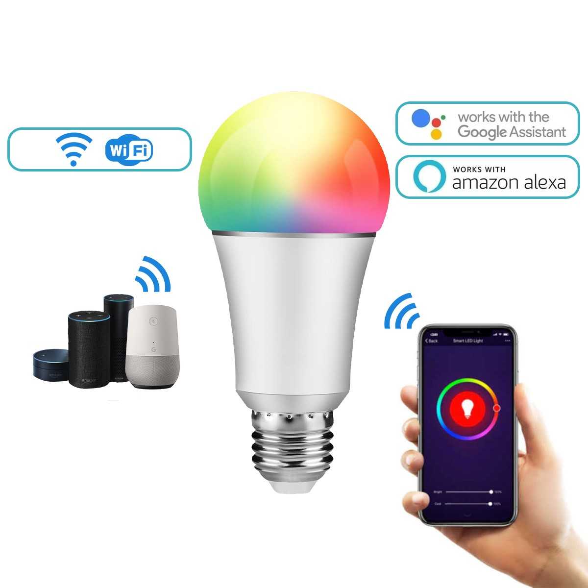 Lampada Inteligente WIFI LED Colors Smart 9w Bivolt QTOUCH