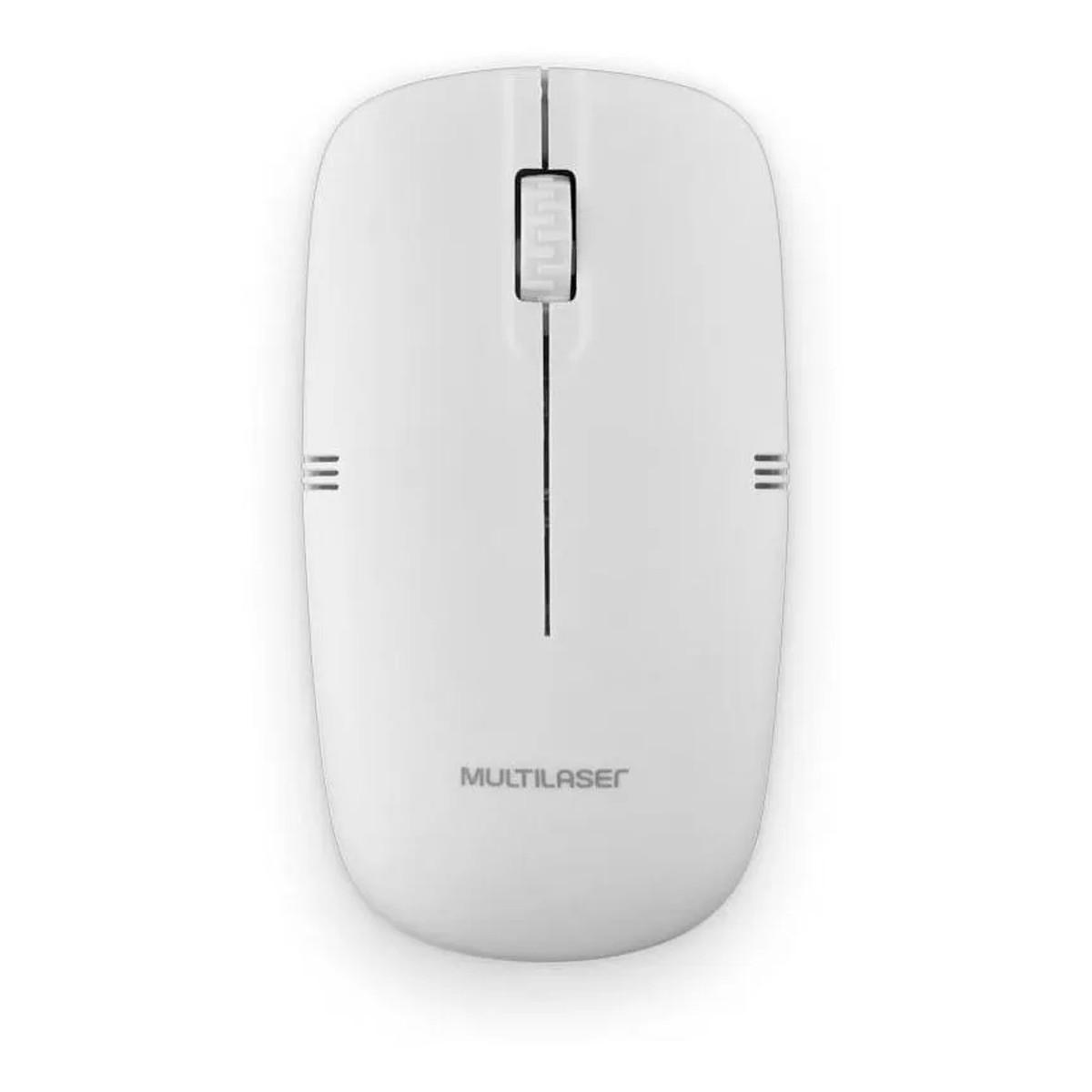 Mouse Óptico Sem Fio Super Leve Multilaser 1200dpi - MO286