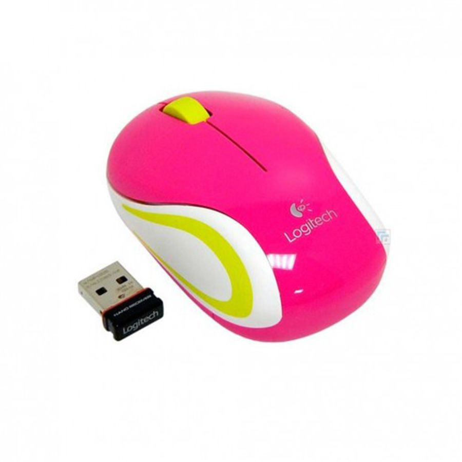 Mouse Sem Fio Wireless Logitech M187 Mini Peppermint Rosa