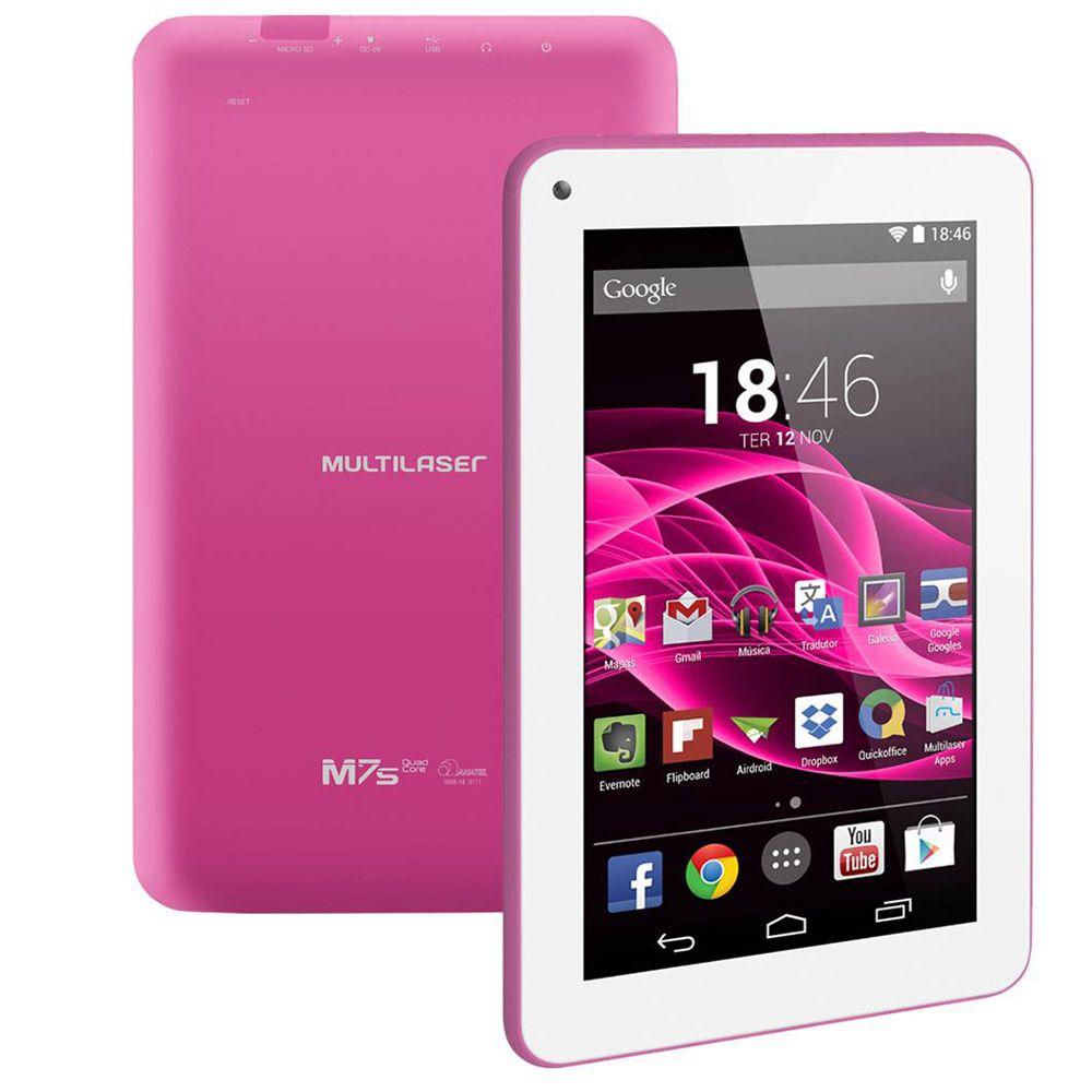 Tablet Multilaser M7s Nb186 Câmera 8gb Tela 7.0 Wifi Outlet