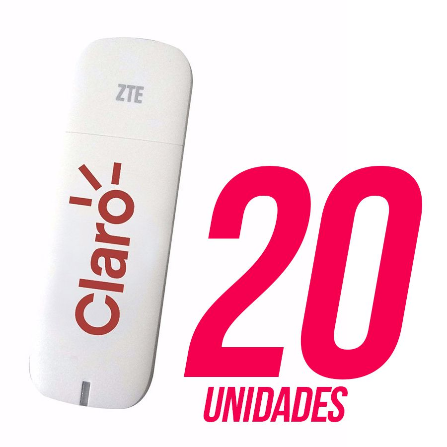 Combo com 20 Mini Modem 3g Claro Zte Mf710 Aceita Chip 4g Novo