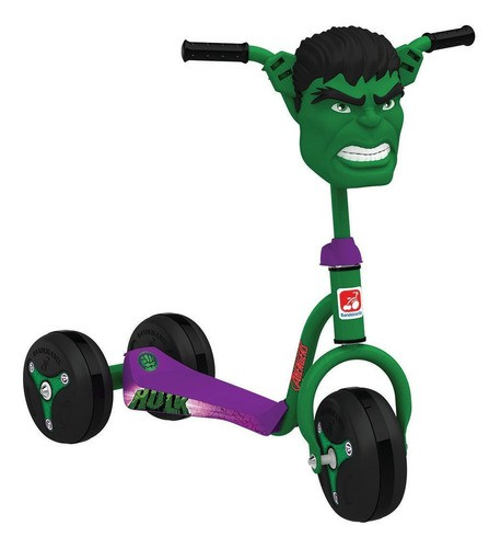 Patinete Hulk 3006 Marvel Avengers Vingadores - Bandeirante