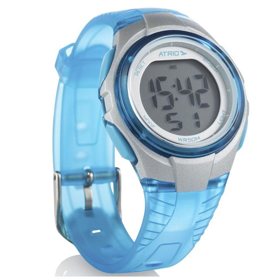Relógio Feminino Copper Azul Es095 Alarme Alerta Atrio Novo