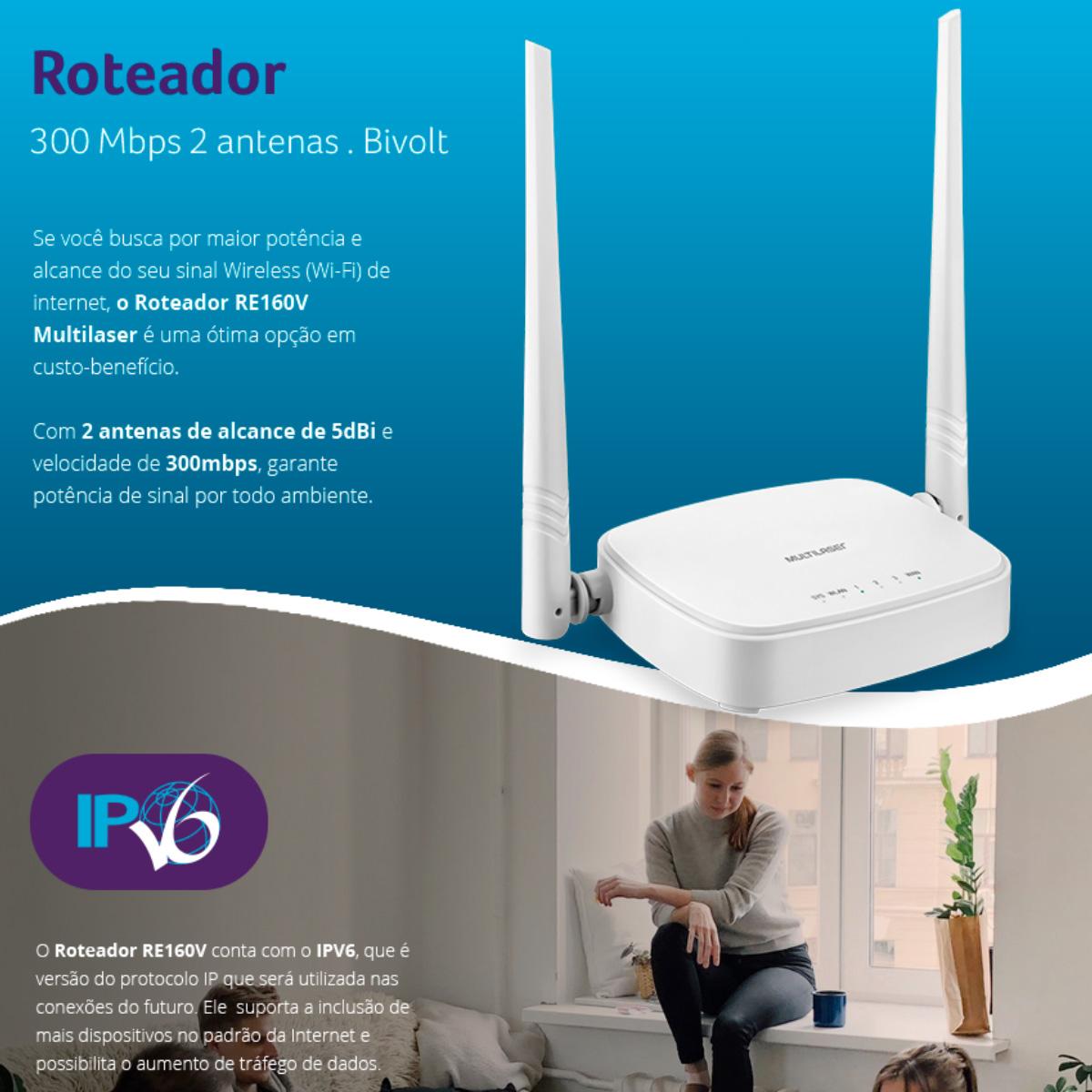 Roteador Multilaser Re160v Branco 110v/240v
