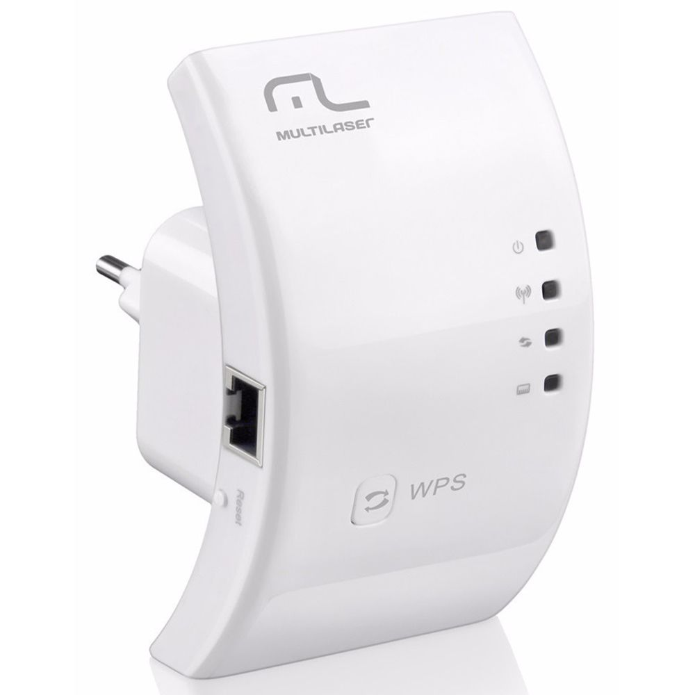 Roteador Repetidor Multilaser 300Mbps WPS - RE051 Novo