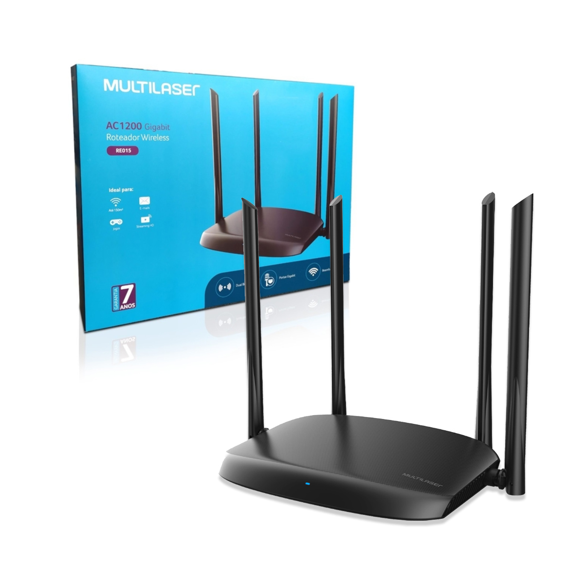Roteador Wireless 2.4/5ghz 1200mbps Dual Band Gigabit Re015
