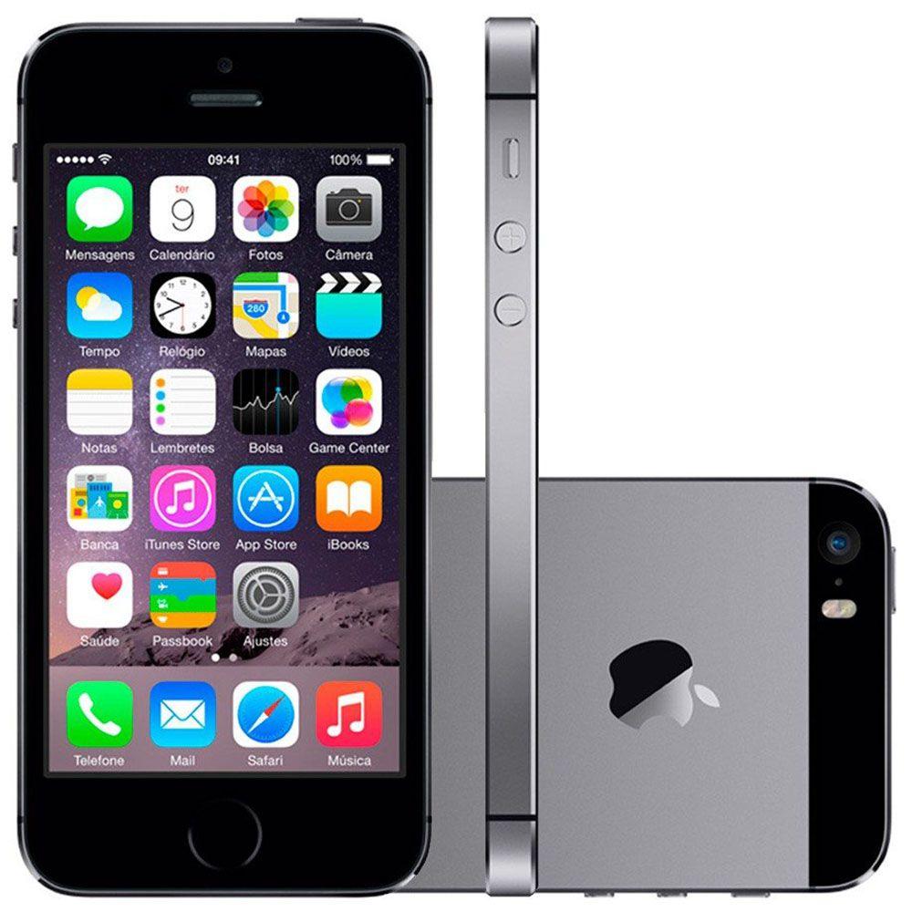 Smartphone Apple Iphone 5s 32gb Tela 4.0' 4g 8mp Vitrine 2 Sem Touch iD