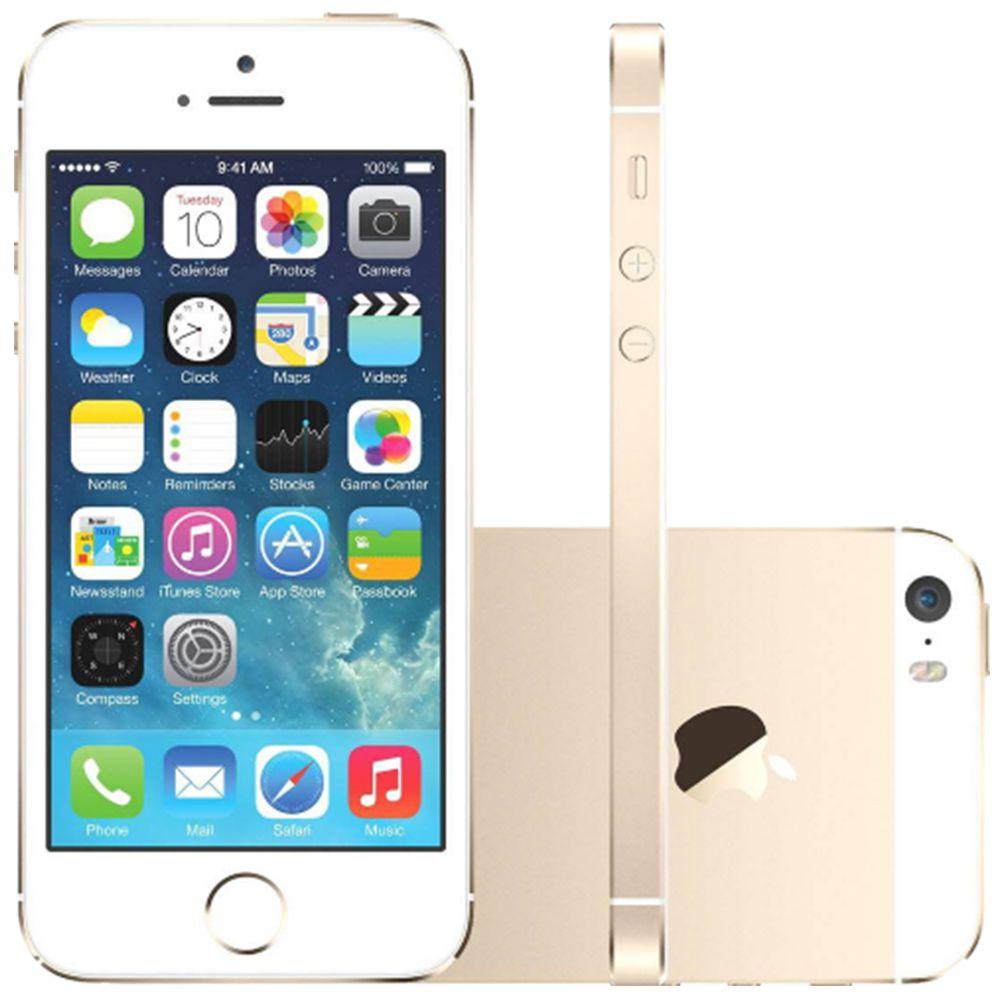 Smartphone Apple iPhone 5s 32GB Tela 4.0' 4G 8MP EXCELENTE (Novo Open Box)