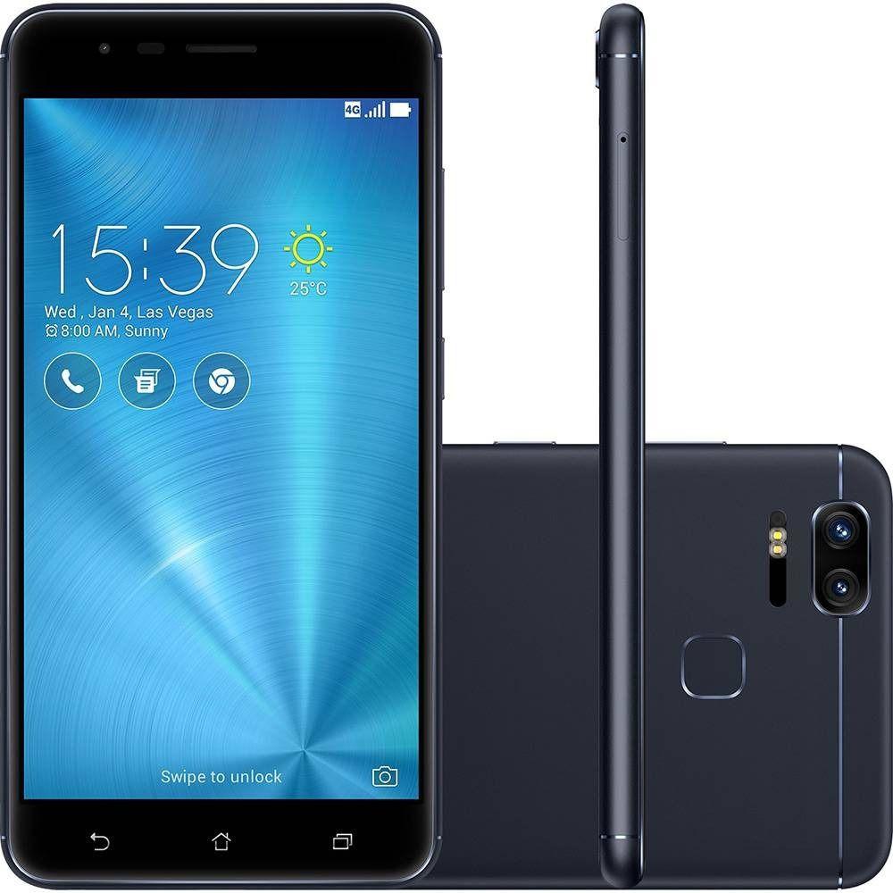 Smartphone Asus Zenfone 3 Zoom 128gb Ze553KL Tela 5.5' Dual 12mp Vitrine