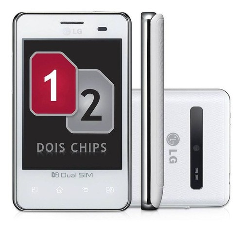 Smartphone LG Optimus L3 E405 Dual 3G Tela 3.2 Wifi Rádio Fm Mp3 (Outlet)