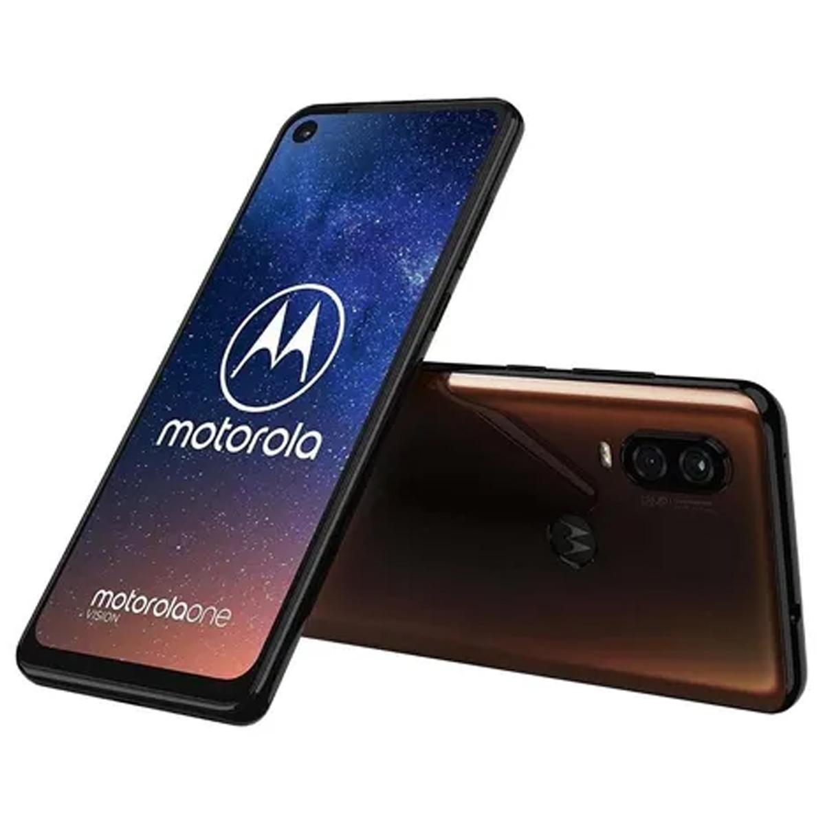 Smartphone Motorola One Vision 128gb 4gb Ram Tela 6.3' Cobre