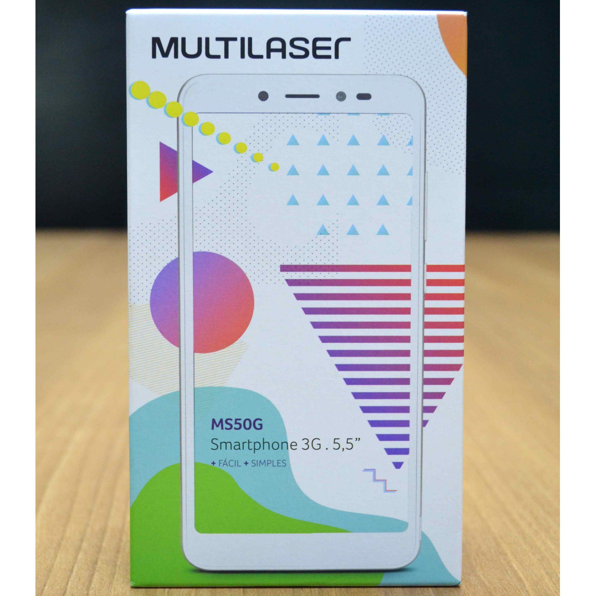 Smartphone Multilaser MS50G NB749 8gb Dual + HEADPHONE Bluetooth + Cartão 32GB