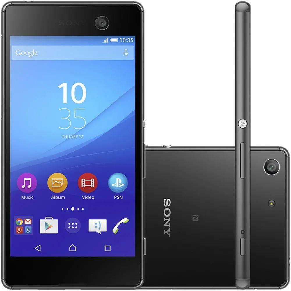 Smartphone Sony Xperia M5 E5643 Tela 5.0' Tv 4g 21mp 16gb Vitrine