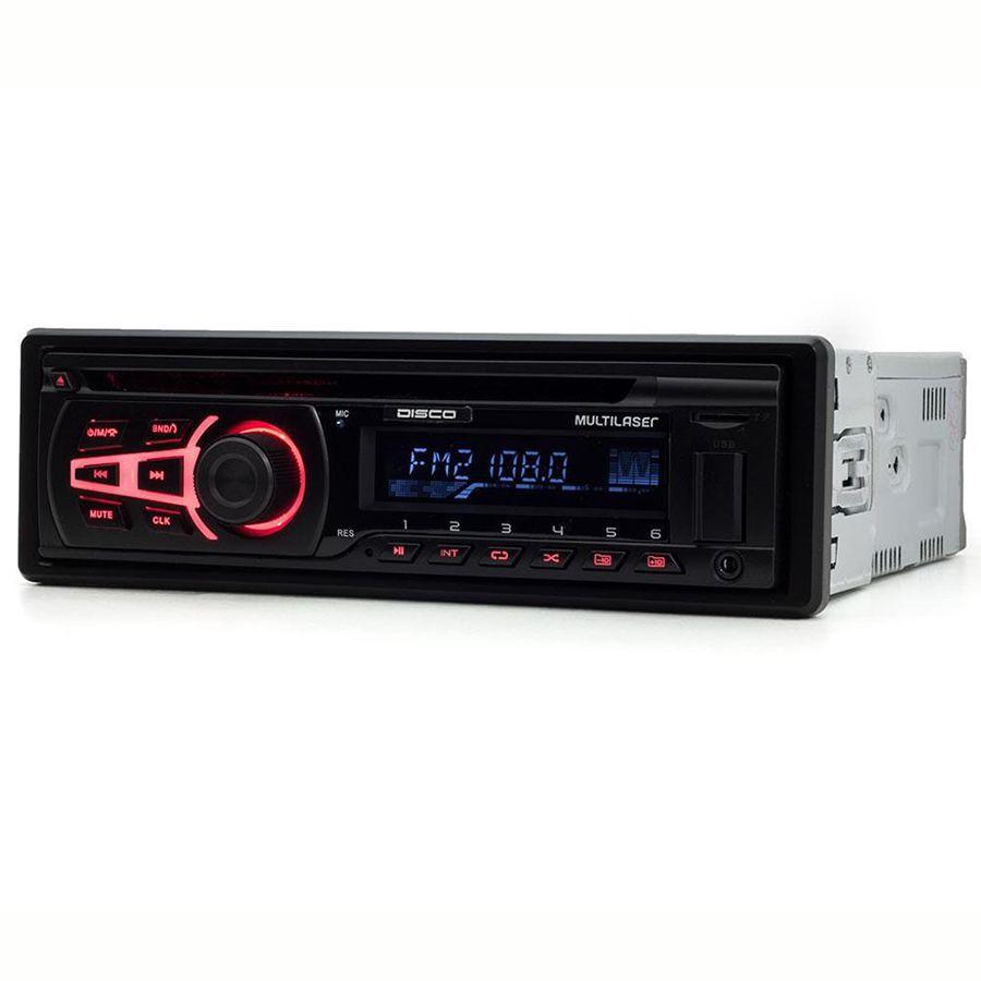 Som Automotivo Bluetooth Radio Cd Player Multilaser P3322