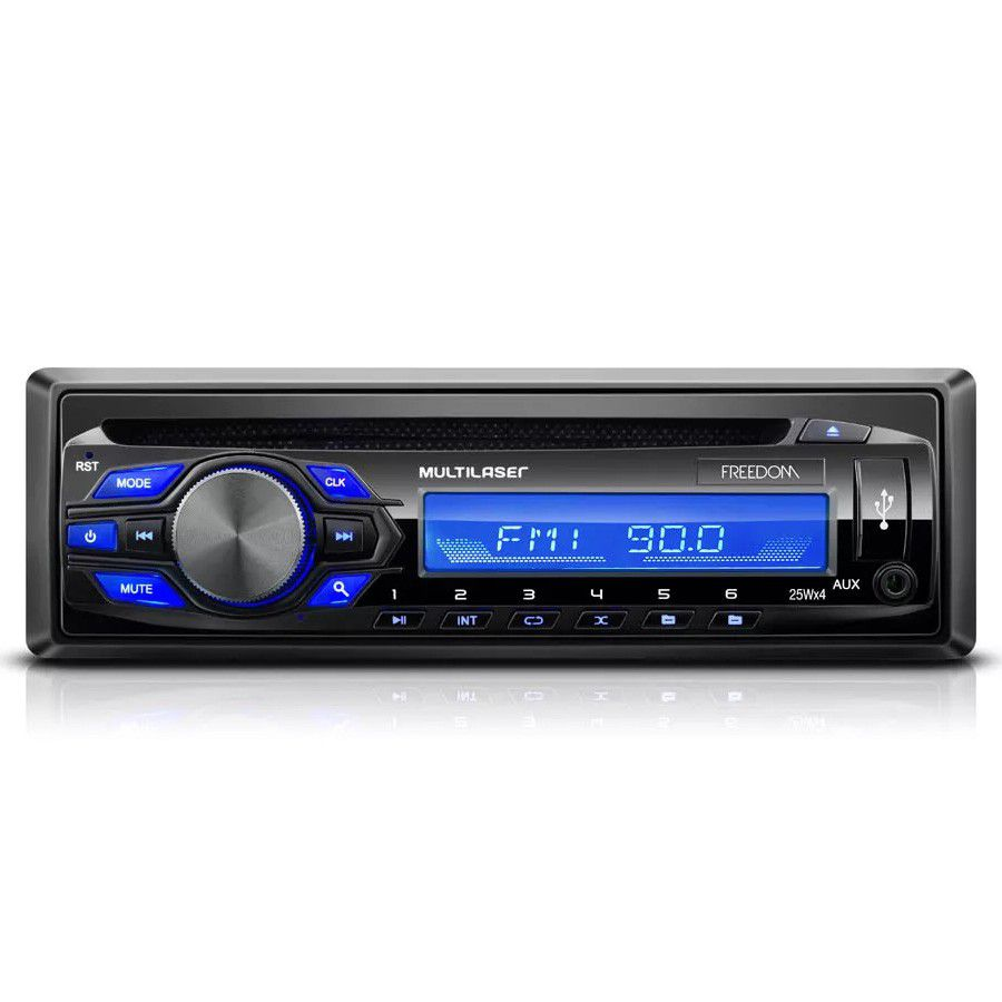 Som Automotivo Multilaser Freedom Usb Rádio Fm Mp3 P3239