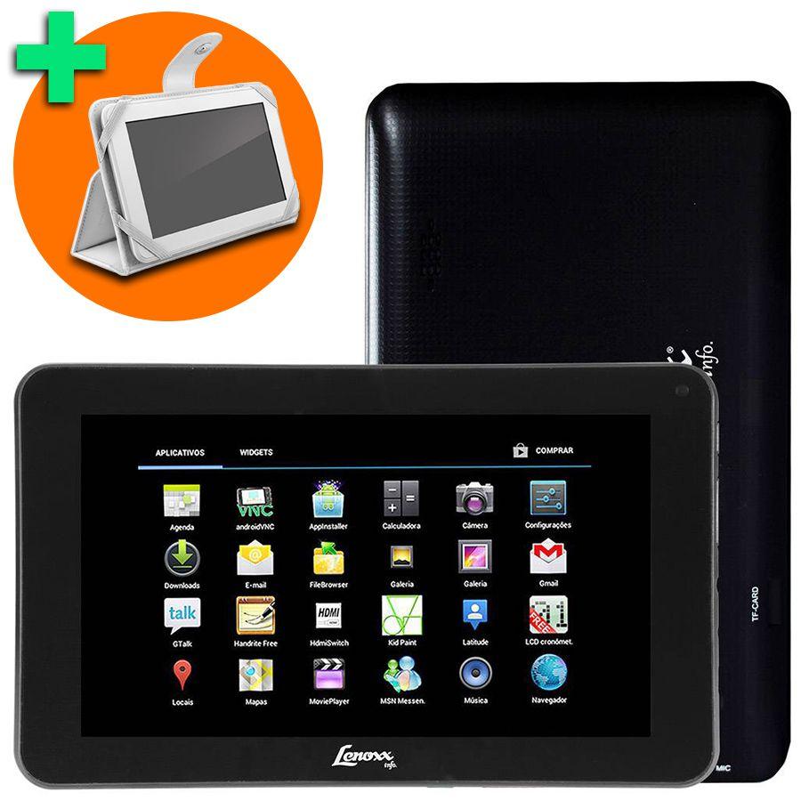 Tablet Lenoxx Tb52 Tela 7 4gb Wi-fi Android 4.0 Vitrine + Brinde