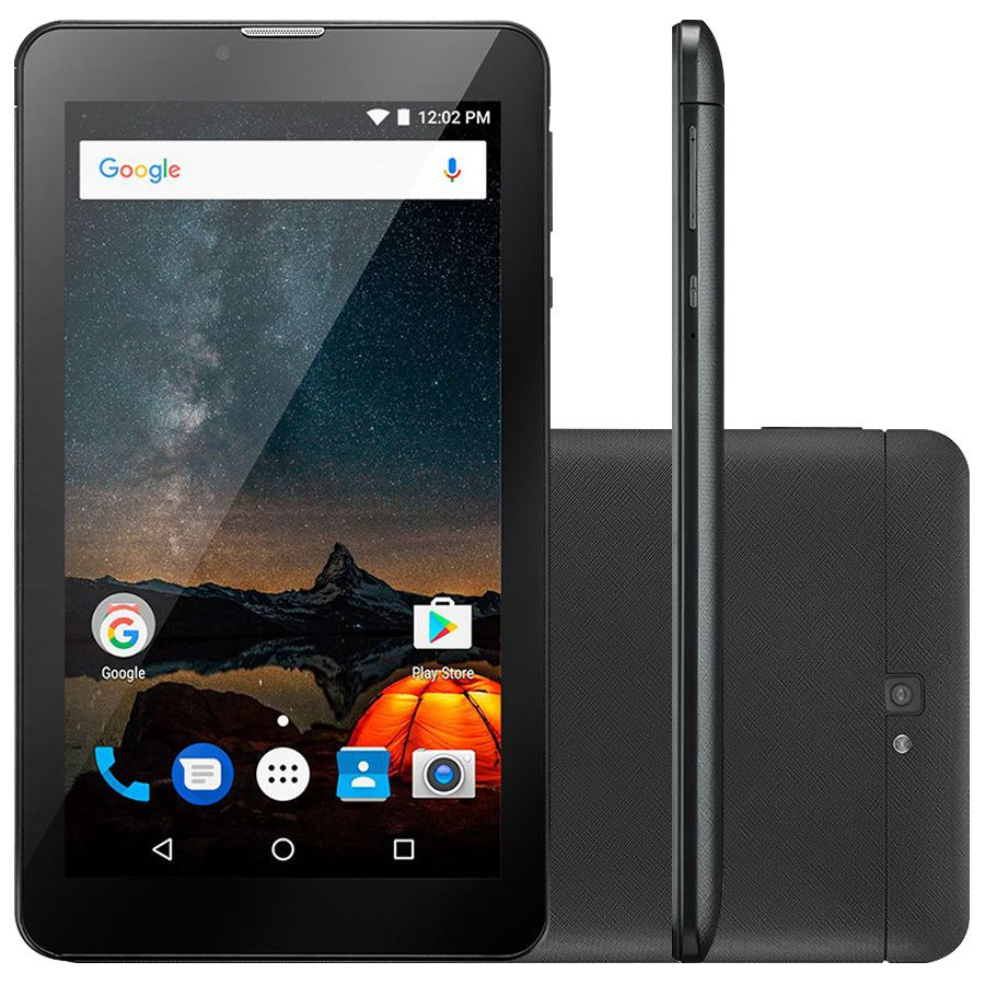Tablet Multilaser M7S Plus nb273 Tela 7.0' 8gb wifi QuadCore Preto Outlet