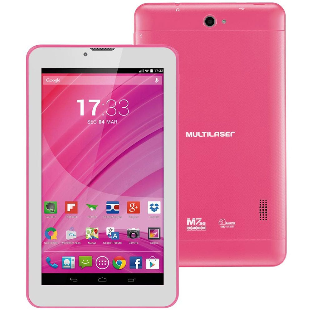 Tablet Multilaser M7 Nb225 Tela 7' 3G Função Celular Quad Core Outlet + Brinde