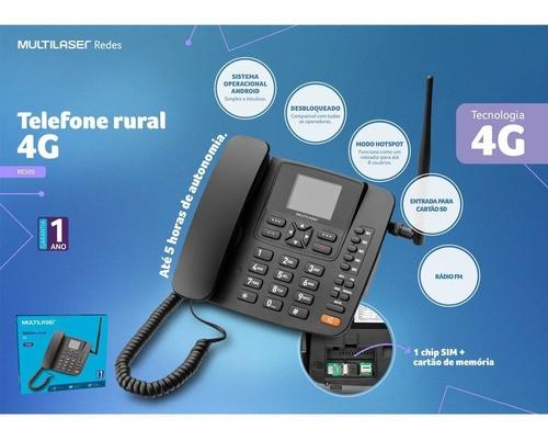 Telefone Celular Rural Roteador 4g Wifi Mp3 Radio Fm Re505