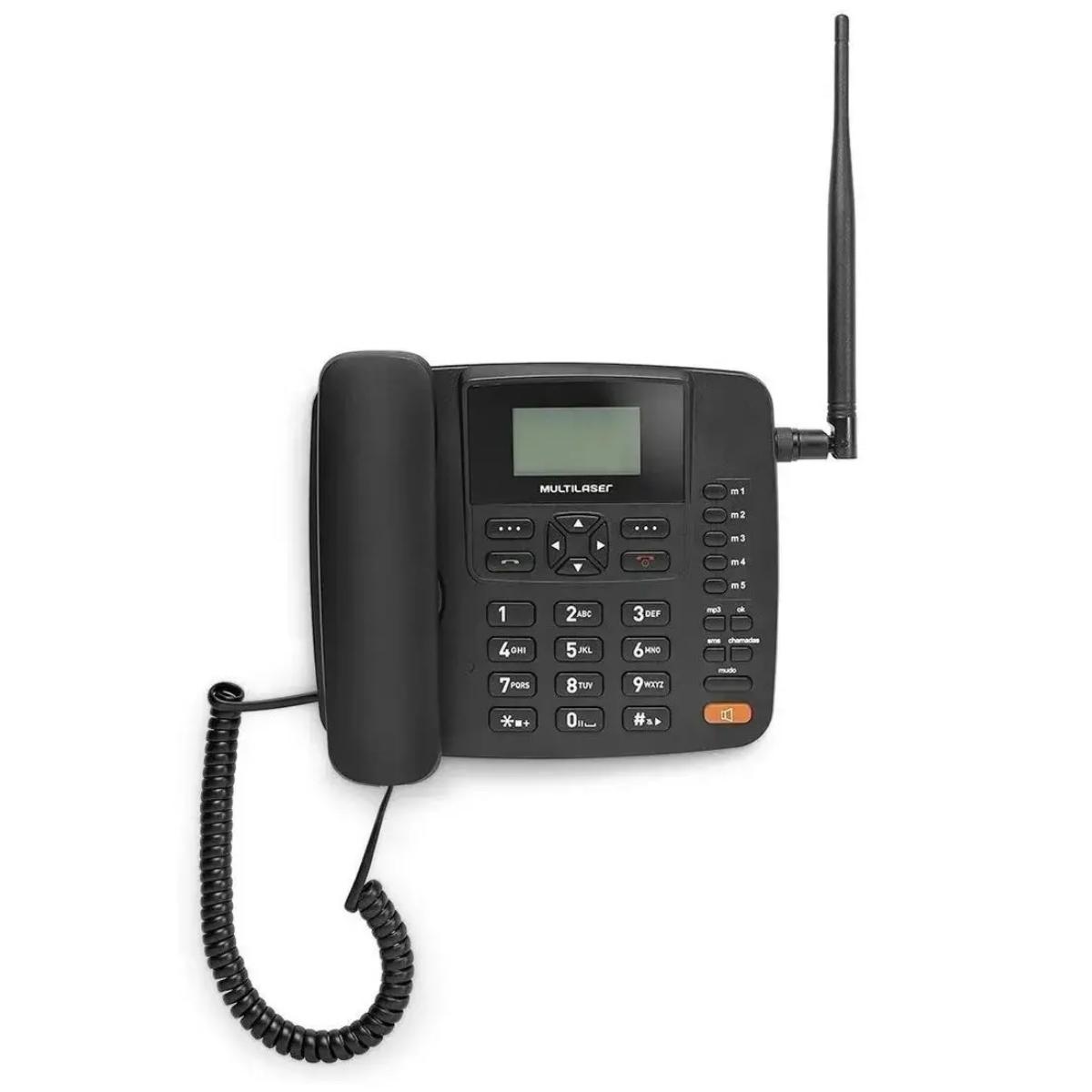 Telefone Rural Fixo De Mesa Multilaser Re502 Dual Quadriband