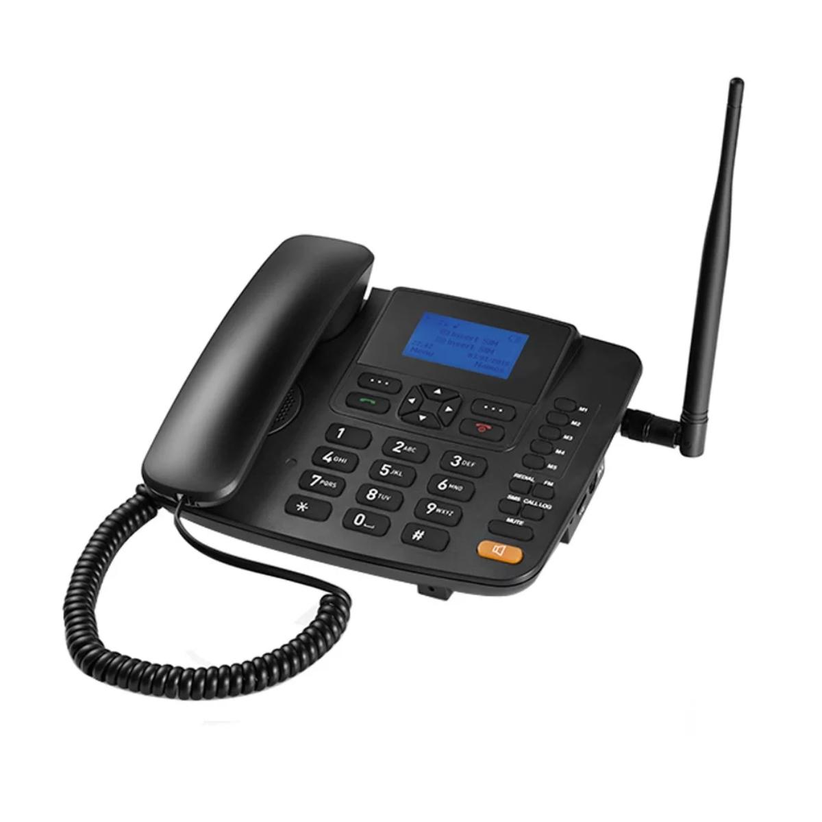 Telefone Rural Fixo De Mesa Quadriband 3g Multilaser Re504
