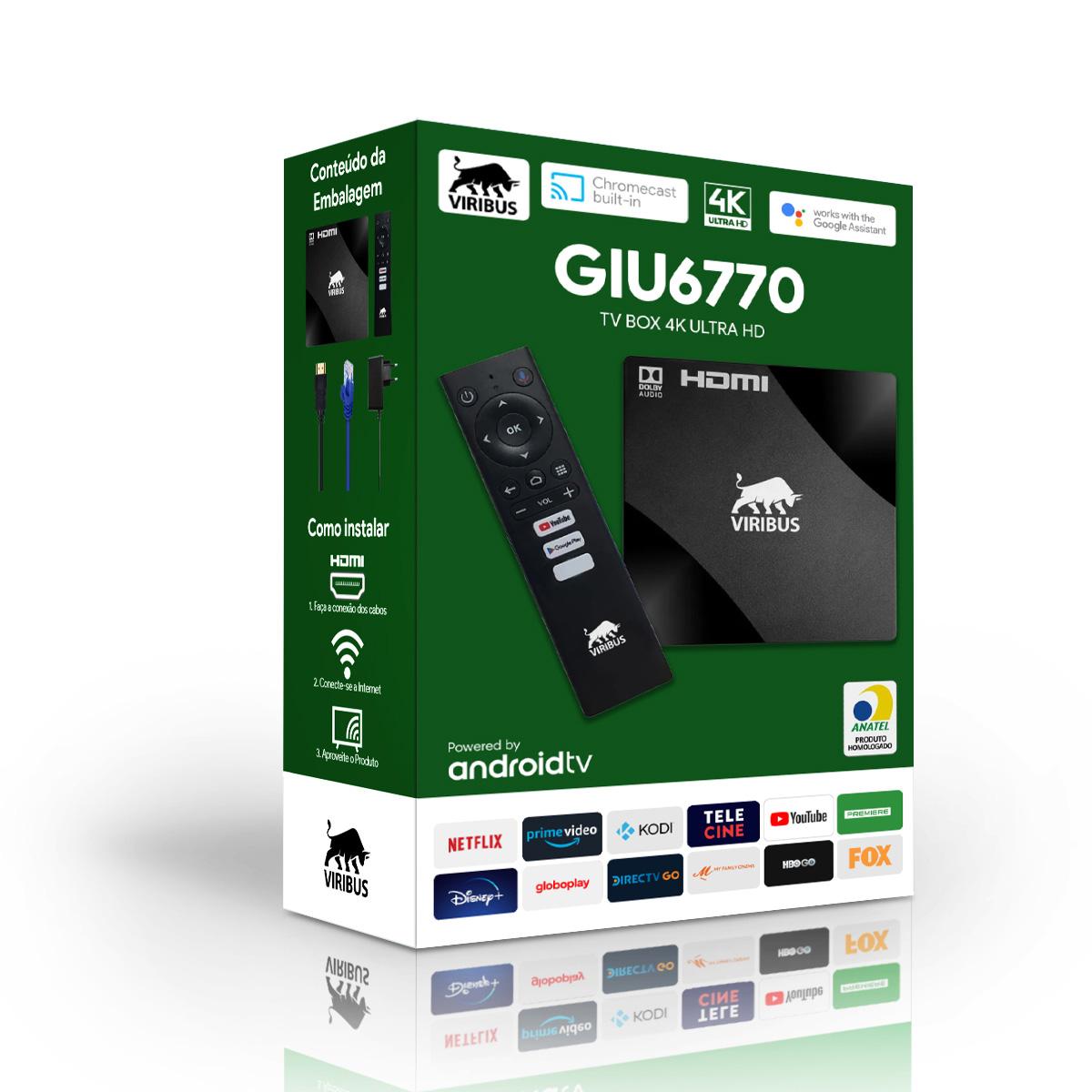 TV BOX SMART 4K CONVERSOR CHROMECAST ANDROID 8GB 2GB RAM NFE