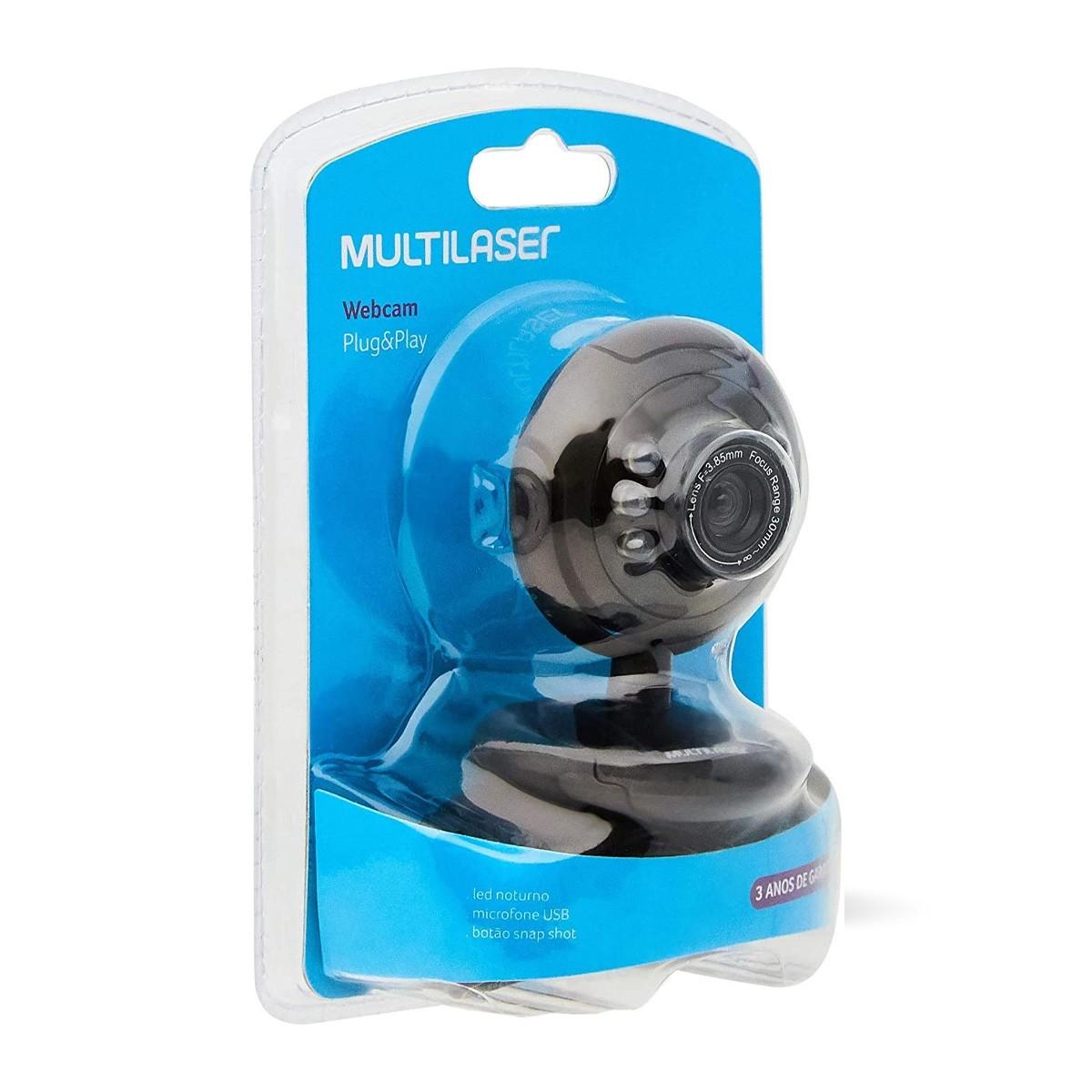 Webcam Multilaser Night Vision 16mp Iluminação Noturna Wc045