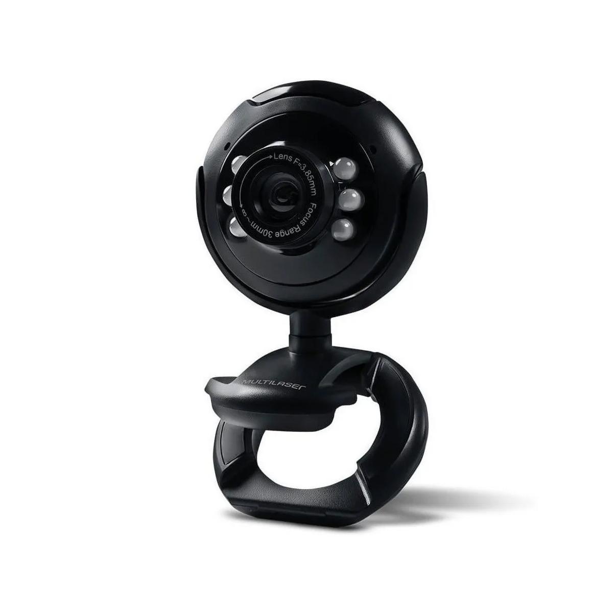 Webcam Visão Noturna 16 Megapixel Usb Led Multilaser - Wc045