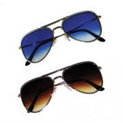 Óculos de Sol Khatto Combo Aviador Mãe e Filha - Dourado