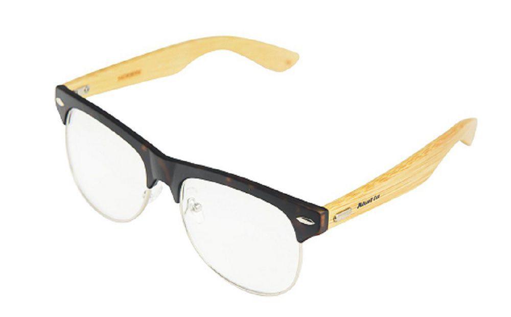 Armação de Óculos Khatto Bambu Clubmaster Safe - C009