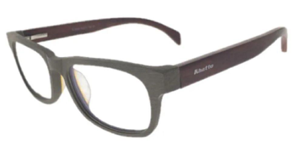 Armação de Óculos Khatto Bambu Square Elegancy - C035