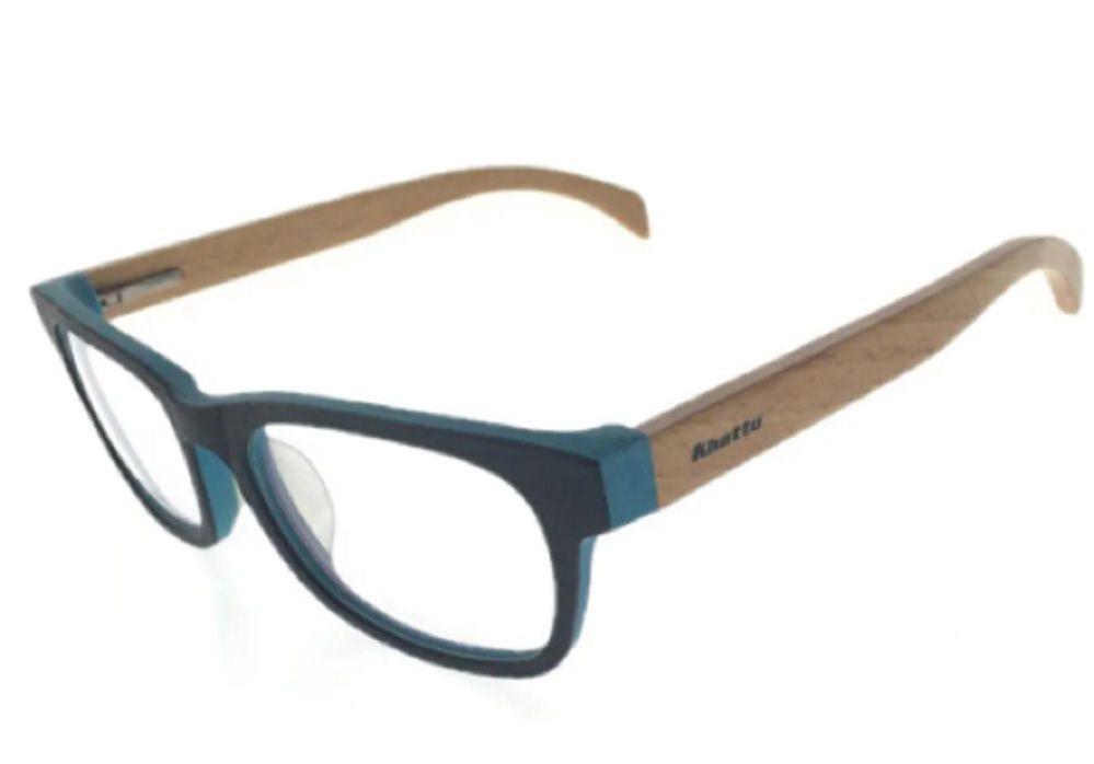 Armação para Óculos de Grau Khatto Bambú Square Elegancy - C035