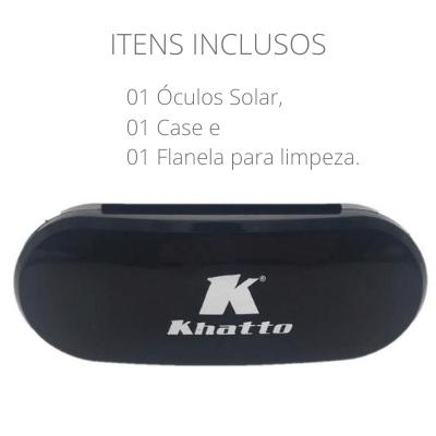 Armação para Óculos de Grau Khatto Square Black - C103