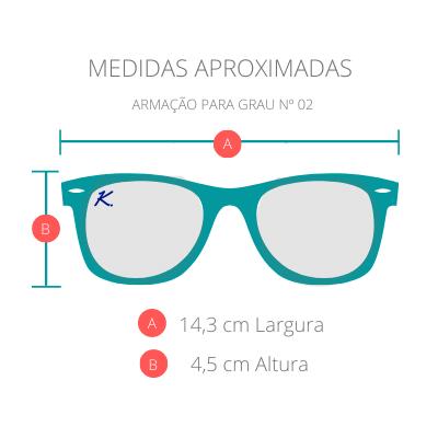 Armação para Óculos Khatto Square Dual - C104