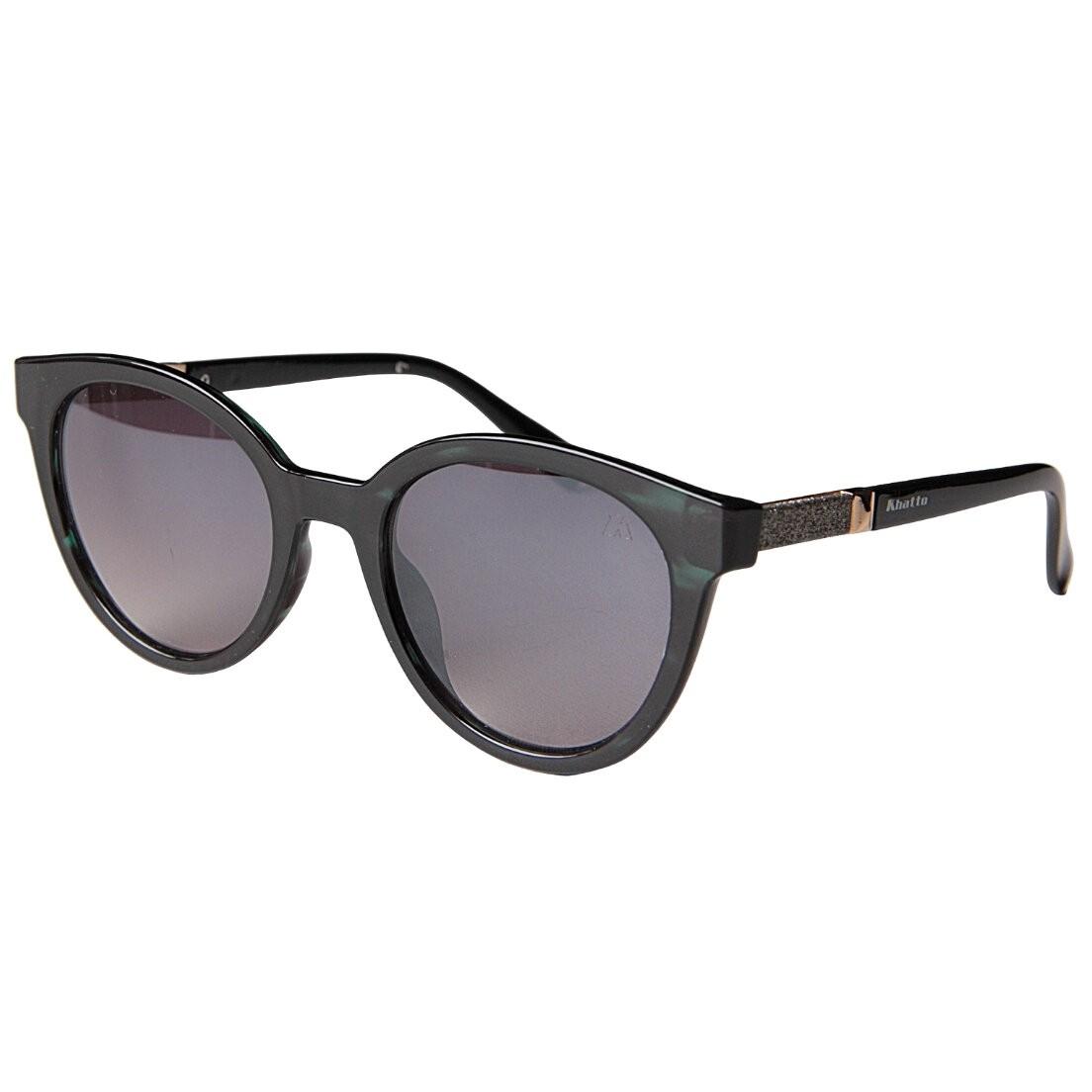 Óculos de Sol Khatto Cat Round Black - PU