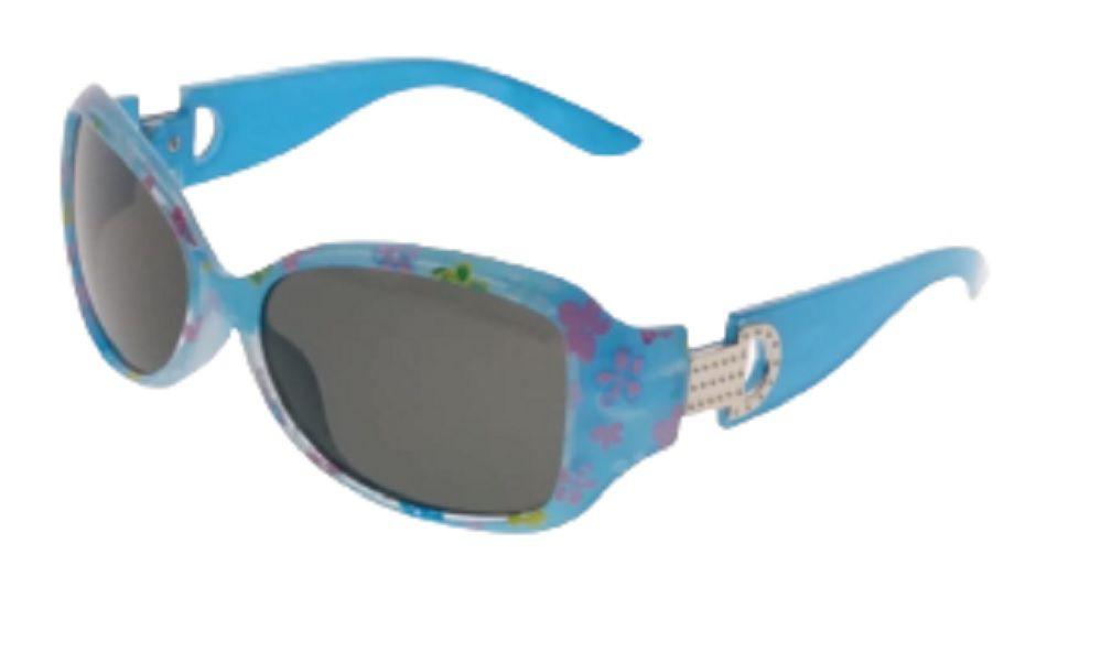 Óculos de Sol Khatto Kids Retrô Blue Flowers - C081