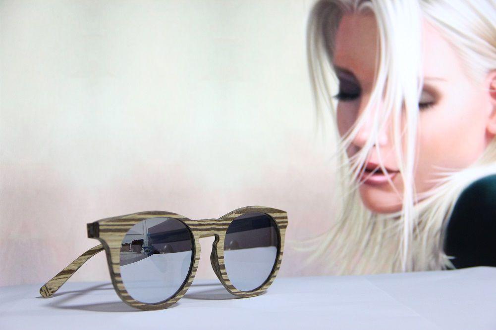 Óculos de Sol Khatto Madeira Round Style - C008
