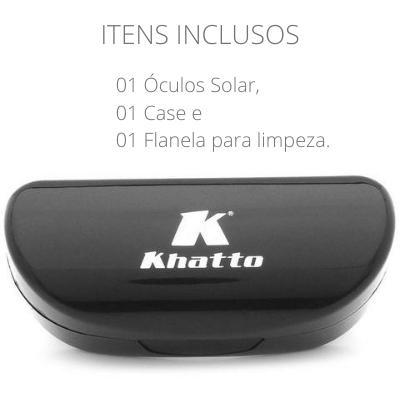 Óculos de Sol Khatto Square Premium Chiquê Italiano - PU