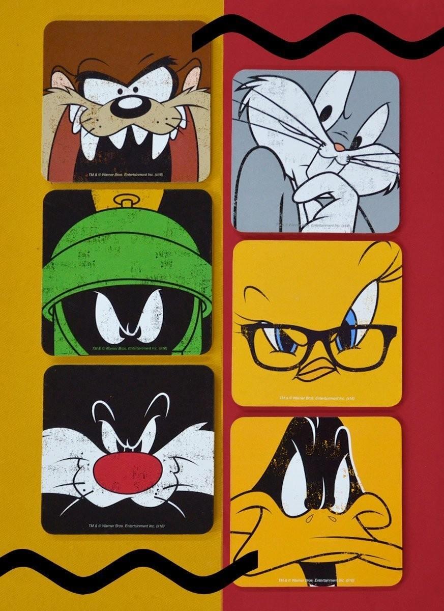 Conjunto com 6 Porta Copos Looney Tunes Personagens