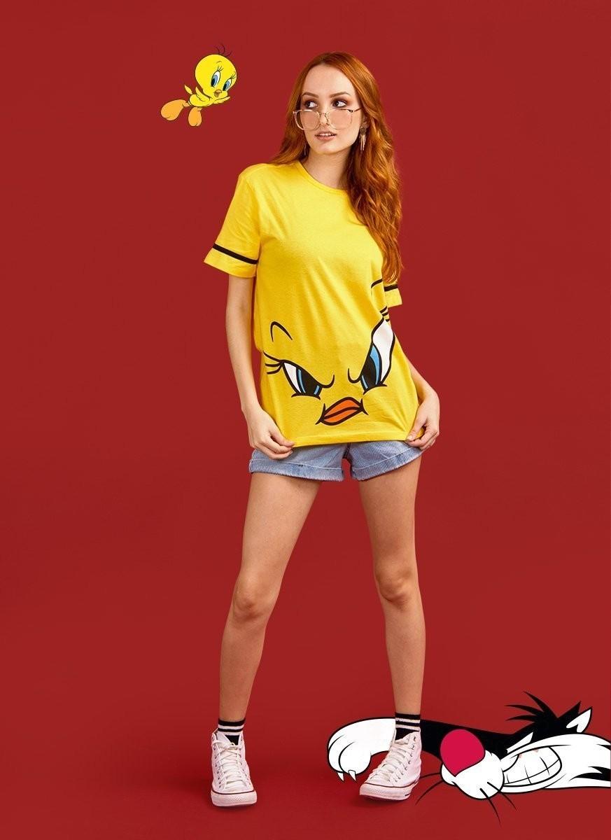 Camiseta Feminina Piu-Piu Face