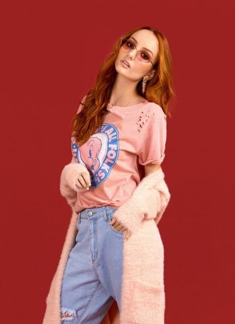 Camiseta Chocker Feminina Gaguinho P-Porky Pig