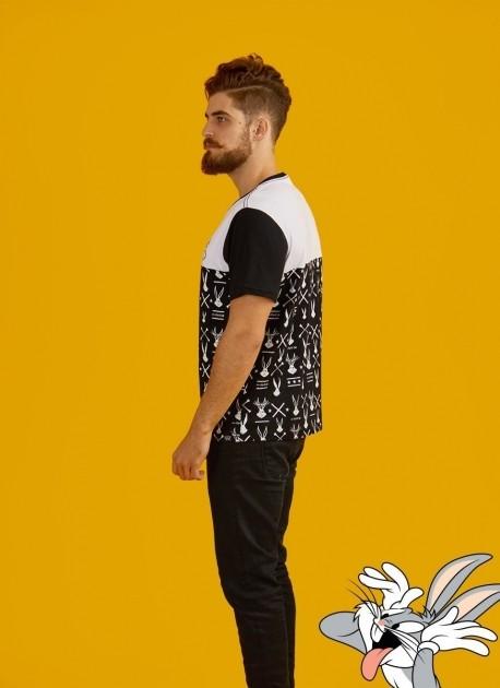 Camiseta Masculina Bicolor Pernalonga Japan