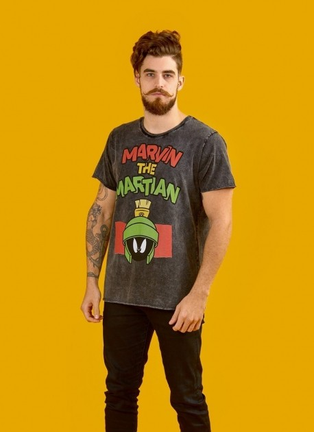 Camiseta Masculina Marmorizada Marvin Angry