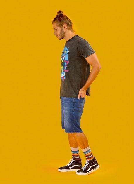Camiseta Masculina Marmorizada Taz Neon Danger
