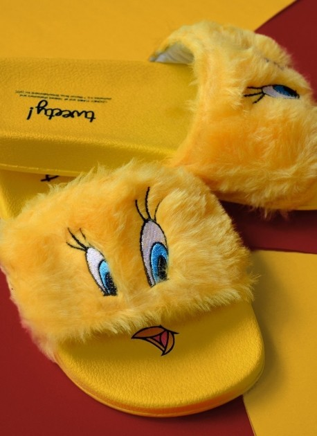 Chinelo Slide Looney Tunes Piu-Piu