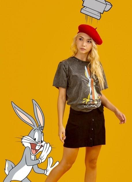 Camiseta Feminina Marmorizada Pernalonga Sliced