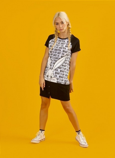 Camiseta Raglan Feminina Pernalonga What's Up Doc?