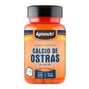 Cálcio de Ostras - 60 Cáps. - 400mg - Apisnutri