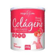 Colágeno Hidrolisado - Sabor Morango - 200g - Apisnutri